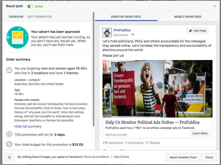 Facebook Enabled Advertisers to Reach 'Jew Haters' — ProPublica