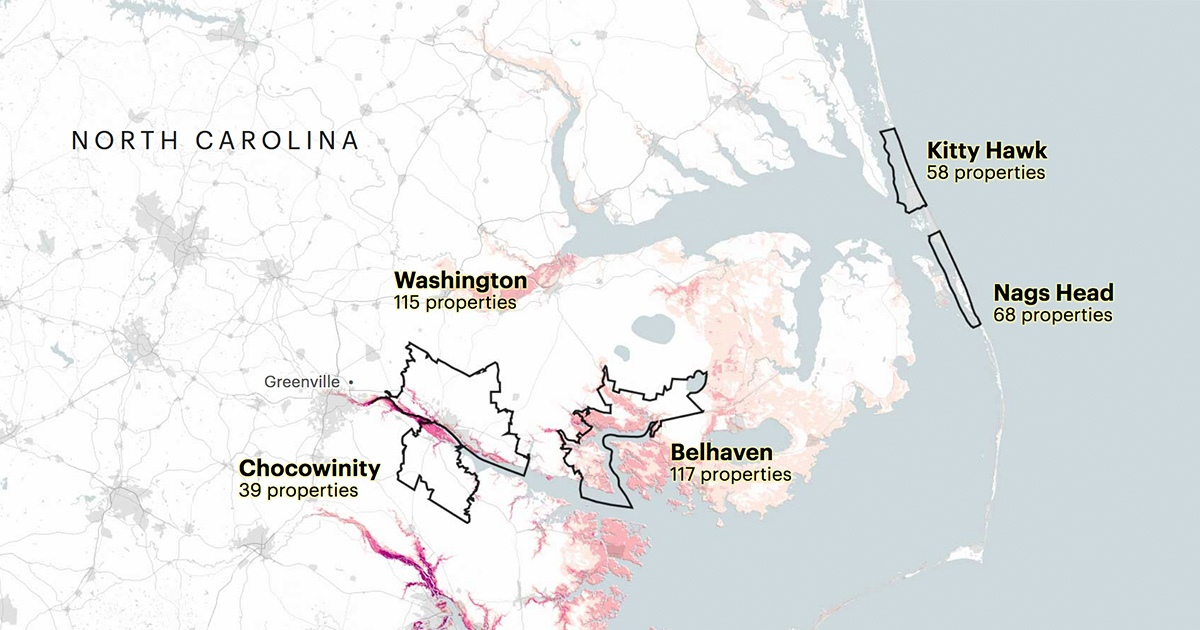 Hurricane Florence's Surge Is Expected to Hit Homes That Already Cost the Government Millions: The storm is pummeling coastal towns that are battling rising sea levels and have been repeatedly bailed out by federal flood insurance