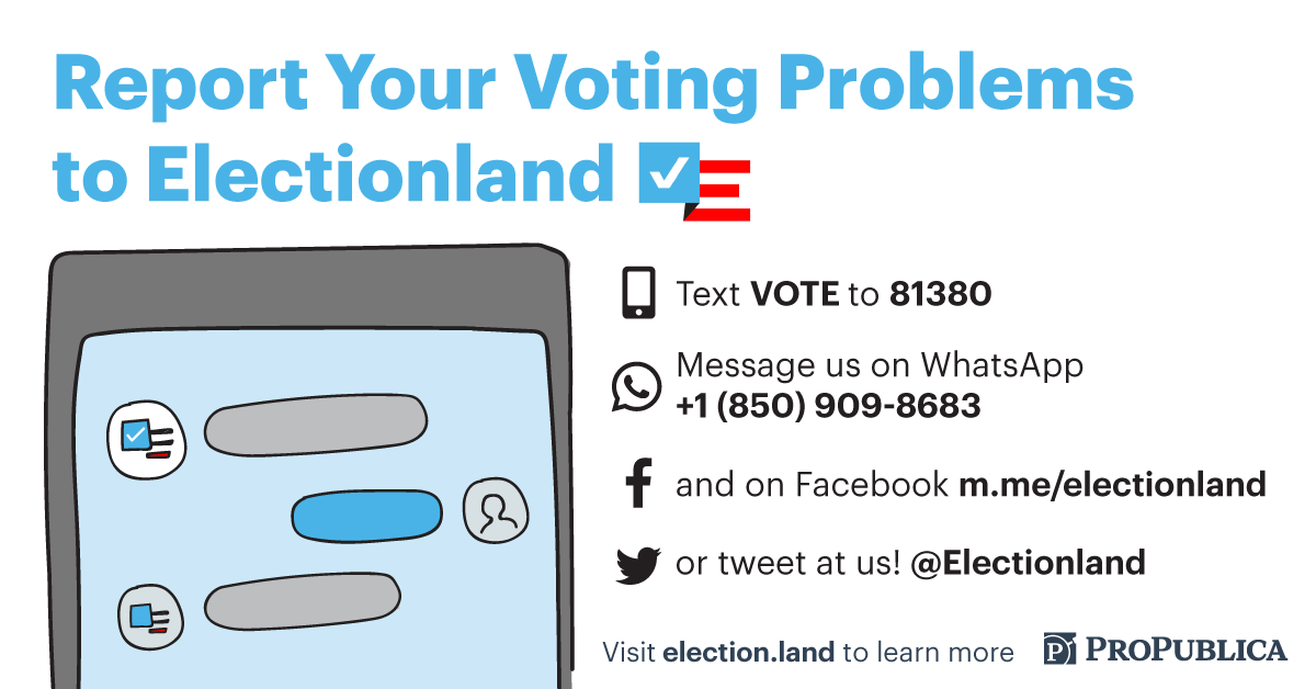 Let Us Know About Voting Problems During the Midterm Elections
