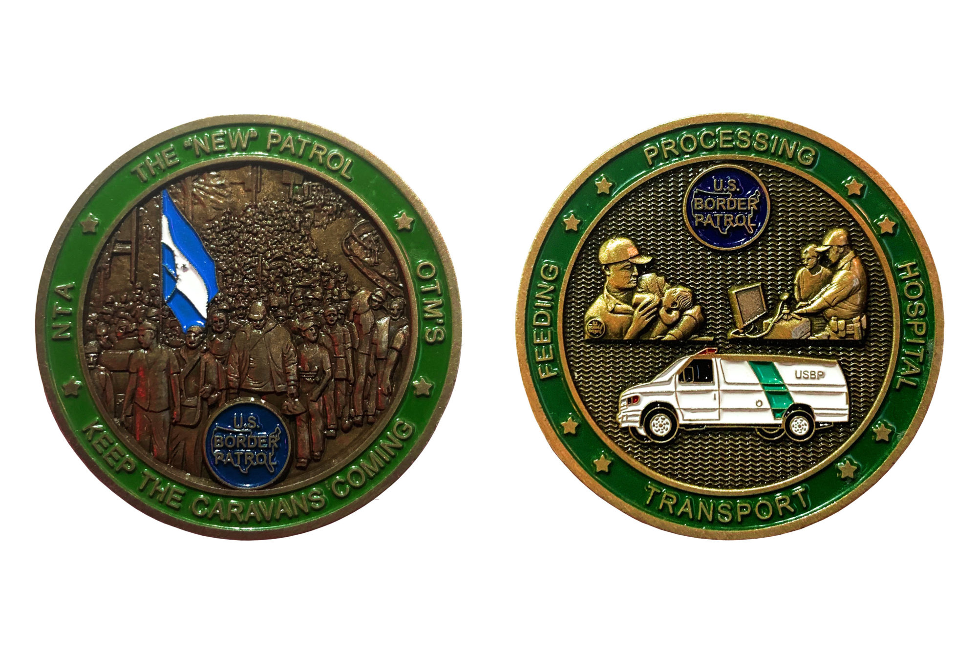 Border Patrol Agents Are Passing Around A Commemorative Coin Mocking Care for Migrant Kids