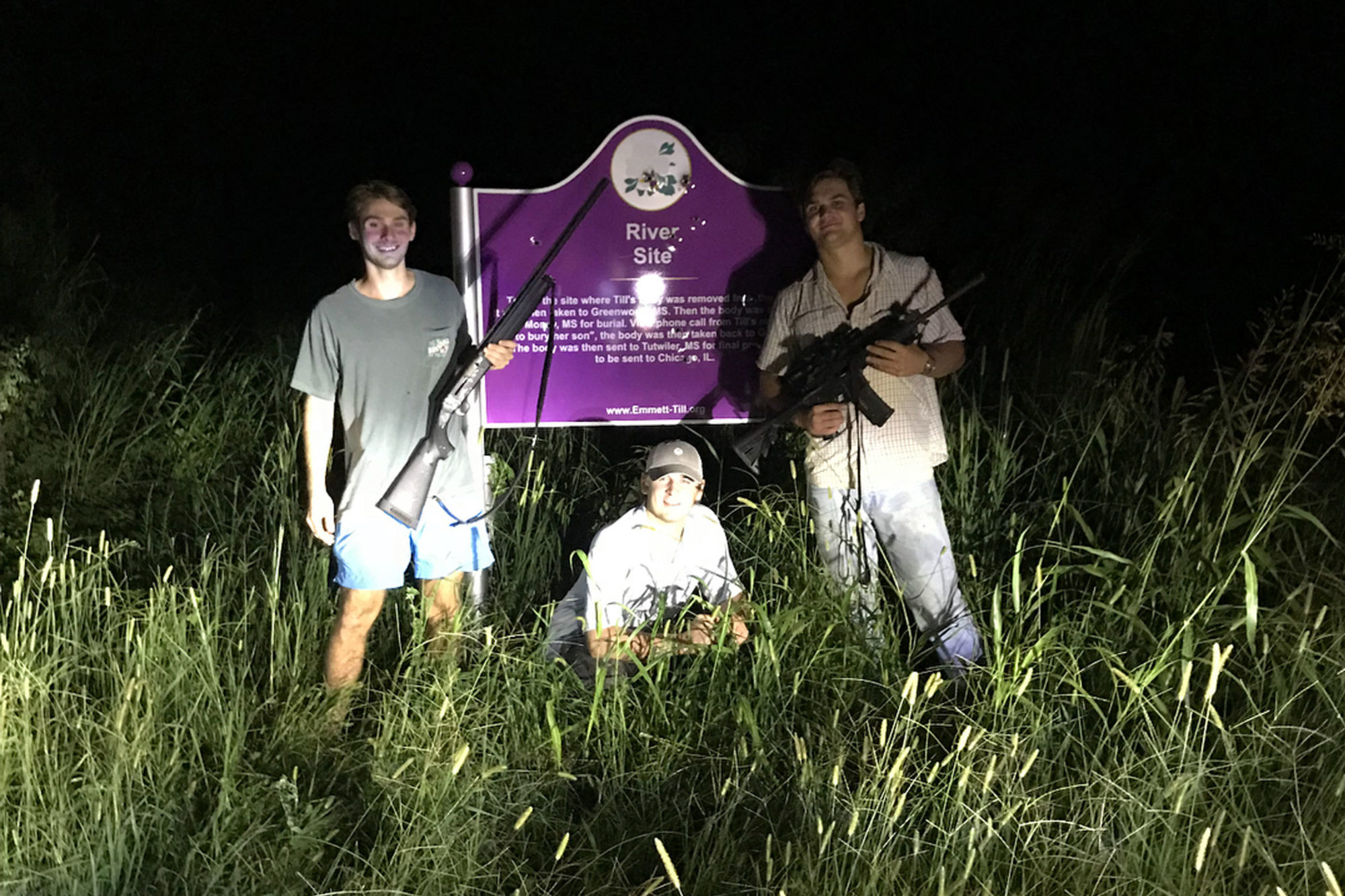 We Found Photos of Ole Miss Students Posing With Guns in Front of a Shot-Up Emmett Till Memorial. Now They Face a Possible Civil Rights Investigation.