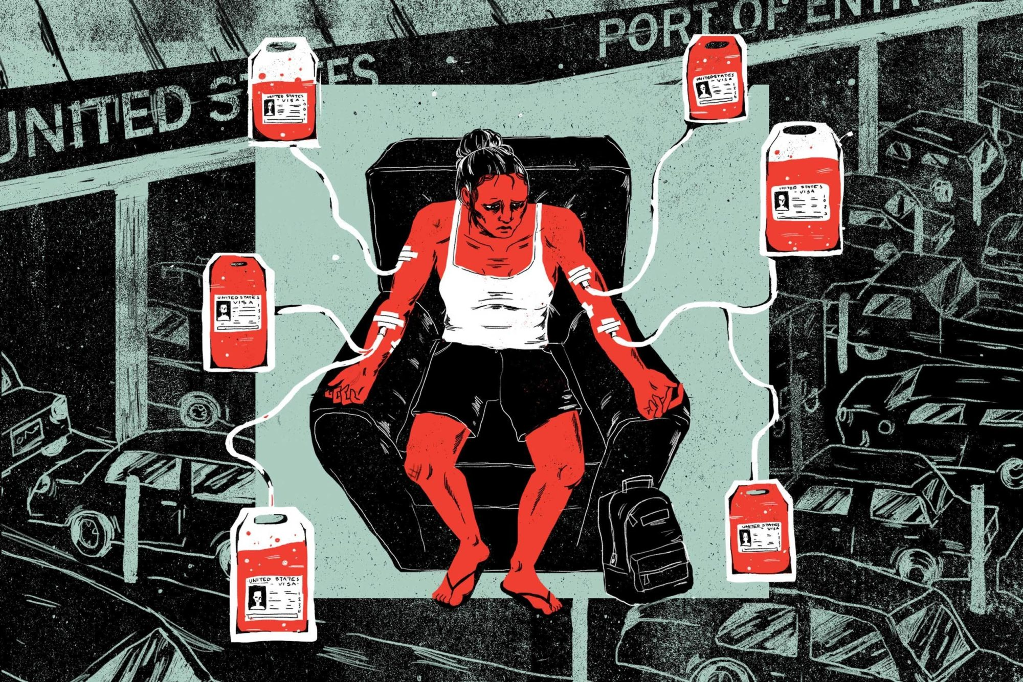 Pharmaceutical Companies Are Luring Mexicans Across the U.S. Border to Donate Blood Plasma