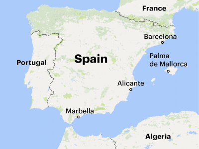 Catalan Map Of Spain.A Gangster Place In The Sun How Spain S Fight Against The Mob