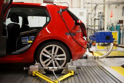 A Portable Emissions Testing System Attached To The Exhaust Of 2016 Volkswagen Ag Golf Tdi Certification Vehicle Patrick T Fallon Bloomberg