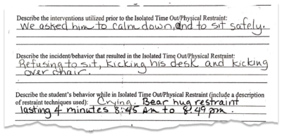 Schools Aren't Supposed to Forcibly Restrain Children as Punishment. In Illinois, It Happened Repeatedly. 18