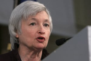 Fed official Janet Yellen went to bat for her local bank, Wells Fargo. (Jacques Brinon/AP Photo)