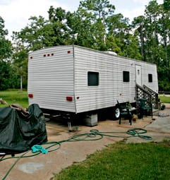 A FEMA trailer in Coden, Ala.