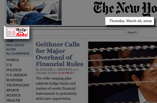 Screenshot of nytimes.com front page taken afternoon of Thursday, Mar. 26