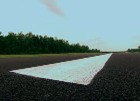 The resurfaced runway at Williamson-Sodus Airport (CBS News)