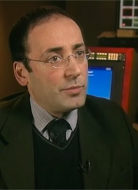 Mouafac Harb, Alhurra's first news director. Harb helped set up Radio Sawa before coming to Alhurra. He was largely responsible for hiring the network staff and getting it on air within four months. But he has been criticized in government reports for signing lucrative deals with friends in his native Lebanon. (Photo courtesy of 60 Minutes)