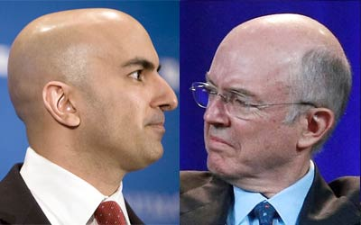 Neel Kashkari, left, will be replaced as bailout chief by Fannie Mae CEO Herb Allison (ProPublica Images and Getty Images/Justin Sullivan)