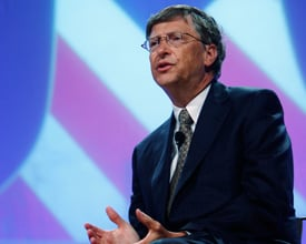 Microsoft co-founder Bill Gates told the National Conference of State Legislatures on Tuesday in Philadelphia that the U.S. needs better ways to measure student and teacher performance to improve its schools. (AP Photo/Matt Rourke)
