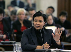 Lisa P. Jackson testifies before New Jersey's Senate Judiciary Committee on Feb. 6, 2006. (Mel Evans/AP Photo)