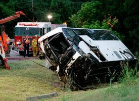 Aug. 8 bus crash in Sherman, Texas. (Credit: Tony Gutierrez/AP Photo)