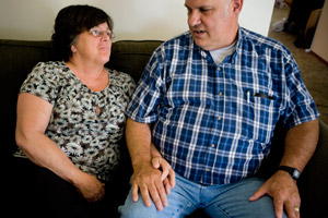 Both Ann and Bob Immele worked at the Hanford site. Ann was told to 'flat out told to keep my mouth shut' about the dangers of beryllium exposure while Bob now suffers from chronic beryllium disease. (Leah Nash/ProPublica)