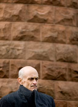 Homeland Security Michael Chertoff listens during a memorial service for the 19th anniversary of the terrorist bombing of Pan Am Flight 103 which crashed over Lockerbie, Scotland at Arlington National Cemetery (Brendan Smialowski/Getty Images 2007 file photo)