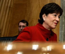 Sen. Susan Collins (R-ME) reportedly cut whistleblower protections out of the stimulus bill. (Chip Somodevilla/Getty Images)