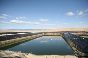A waste pit at a natural gas drilling site (Abrahm Lustgarten/ProPublica)