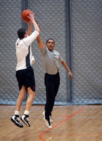 Education Secretary Arne Duncan won't have much time for basketball this summer as stimulus money for education is expected to be doled out to states earlier than planned. (Official White House Photo Pete Souza )