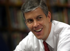 Education Secretary Arne Duncan has warned states that stimulus money set aside for schools should be used to further reforms. (Justin Sullivan/Getty Images)