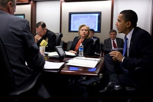President Obama meets with his national security team on Afghanistan and Pakistan in the Situation Room of the White House, on March 12, 2010. (Official White House Photo by Pete Souza)
