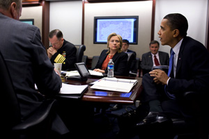 President Obama meets with his national security team on