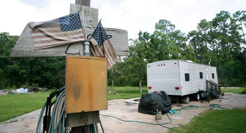 A FEMA trailer in Coden, Ala. (Bill Starling/ProPublica)