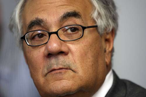 Rep. Barney Frank (D-Mass) was persuaded by lobbyists for ACCS and district attorneys to approve an amendment that legitimized ACCS's practices. (WDCPIX file photo)