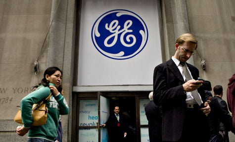 A GE Healthcare event in New York City. (Daniel Acker/Bloomberg)