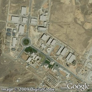 Above is a satellite image of Iran's nuclear enrichment facility Natanz. (Google Earth)