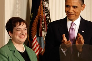 President Barack Obama applauds Solicitor General Elena Kagan after he announced her as his choice to be the nation's 112th Supreme Court justice. (Chip Somodevilla/Getty Images)