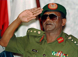 Nigerian President General Sani Abacha (Credit: Issouf Sanogo/AFP/Getty Images)