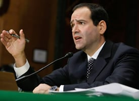 Now-Special Inspector General for the $700 billion Troubled Asset Relief Program Neil Barofsky testifies during a confirmation hearing before the Senate Banking, Housing and Urban Affairs Committee on Capitol Hill in November. (Alex Wong/Getty Images)