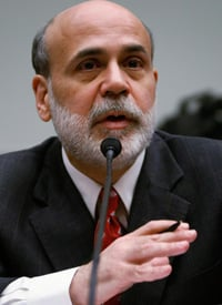 Federal Reserve Board Chairman Ben Bernanke testifies during a hearing before the House Financial Services Committee on Capitol Hill on Feb. 25, 2009, the same day the Treasury released details for how it will conduct a second round of bank investments. (Alex Wong/Getty Images)