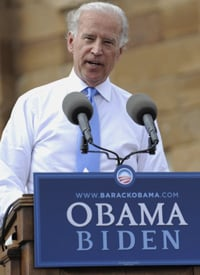 Sen. Joe Biden, the U.S. Democratic vice-presidential candidate. (Credit: Emmanuel Dunand/AFP/Getty Images)