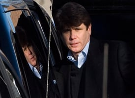 Gov. Blagojevich leaves his home on Dec. 11, 2008. (Brian Kersey/Getty Images)