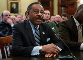 Sen. Roland Burris testifies at Illinois Gov. Rod Blagojevich's impeachment hearing. (Scott Olson/Getty Images)
