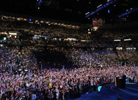 Democratic National Convention in Denver, Colo. (Credit: Stan Honda/AFP/Getty Images)