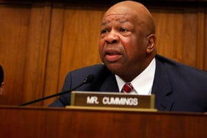 Rep. Elijah Cummings at an October hearing of the House Oversight and Government Reform Committee. (Alex Wong/Getty Images)
