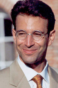Formerly the ICIJ Award, the Pearl prize was renamed in 2008 after Wall Street Journal reporter Daniel Pearl, above, who was slain by Pakistani militants in 2002. (Getty Images)