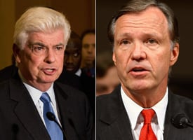 Sen. Chris Dodd and SEC Chairman Chris Cox (Getty Images)