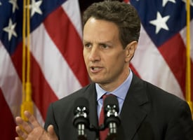 Treasury Secretary Timothy Geithner outlines his plan to restore stability to the U.S. financial system. (Paul J. Richards/AFP/Getty Images)
