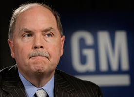 Fritz Henderson, CEO and President of General Motors, discusses GM's Viability Plan at a press conference at GM world headquarters on April 27, 2009 in Detroit, Mich. (Bill Pugliano/Getty Images)