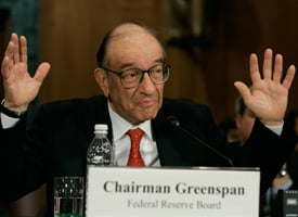 Alan Greenspan testifying on Capitol Hill in 2005 (Mark Wilson/Getty Images)