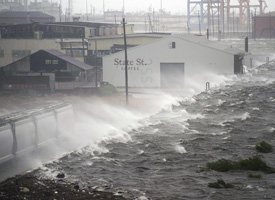 Hurricane Gustav hit New Orleans on Sept. 1, 2008. (Credit: Jim Watson/AFP/Getty Images)