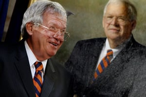 Former House Speaker Dennis Hastert of Illinois attends the unveiling of his portrait at the U.S. Capitol on uly 28, 2009. (Chip Somodevilla/Getty Images)