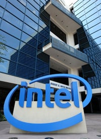 Intel is one of the companies named by the <em>Wall Street Journal</em> as loading their executives' benefits onto their pension plan. (Credit: Justin Sullivan/Getty Images)