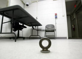 Interrogation room in Camp Delta at Gitmo (Credit: Joe Raedle/Getty Images)