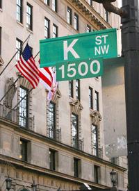 Lobbyists' Headquarters, K Street, in Washington, D.C. (Credit: Karen Bleier/Getty Images)