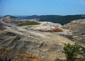 A coal mine on top of Kayford Mountain in West Virginia. (Mandel Ngan/AFP/Getty Images)